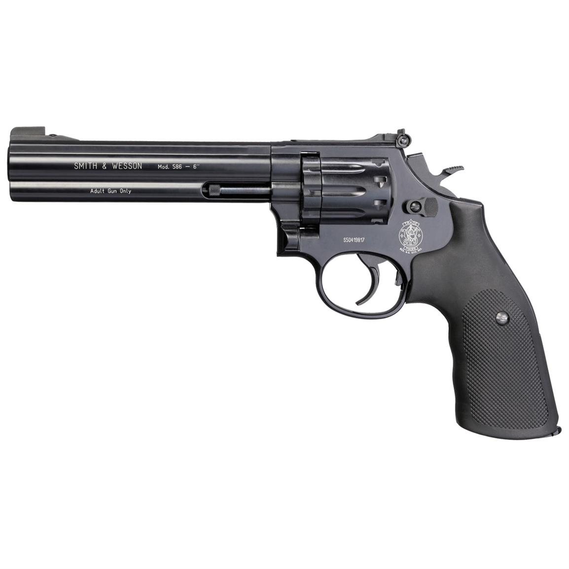 "Smith & Wesson 586 CO2 Revolver, 6"" Barrel"