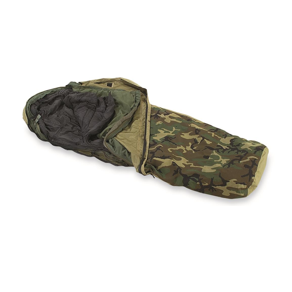 New U.S. Military 3-Pc. ECWS Sleeping Bag System