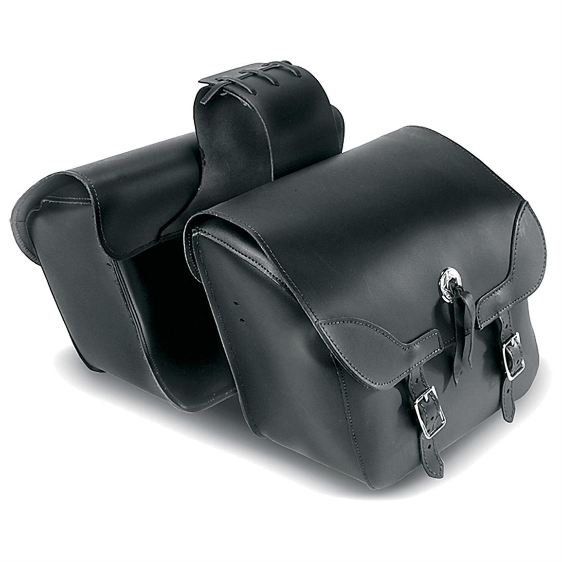 Carroll Heavy-Duty Throw-Over Saddlebags with Concho