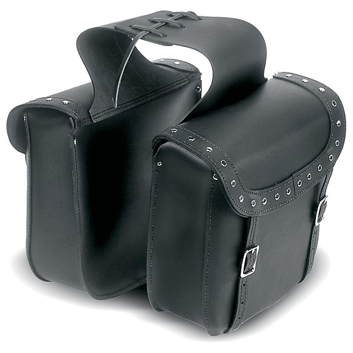 Carroll Heavy Duty Nickel Nail Head Throw-Over Saddlebags