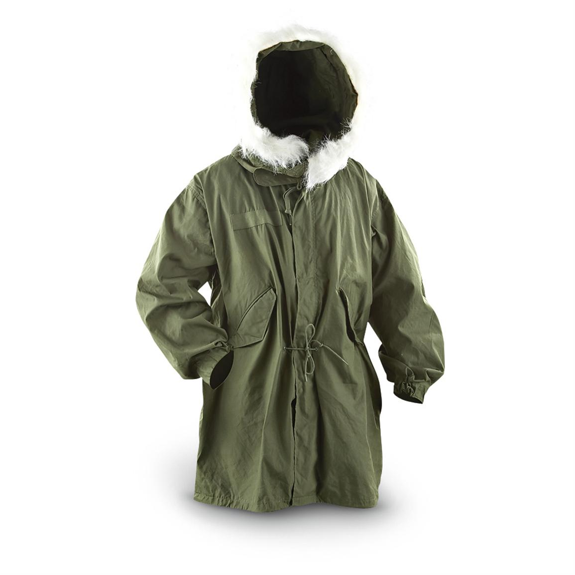 Used U.S. Military Surplus Fishtail Parka, Olive Drab - 149716 ...