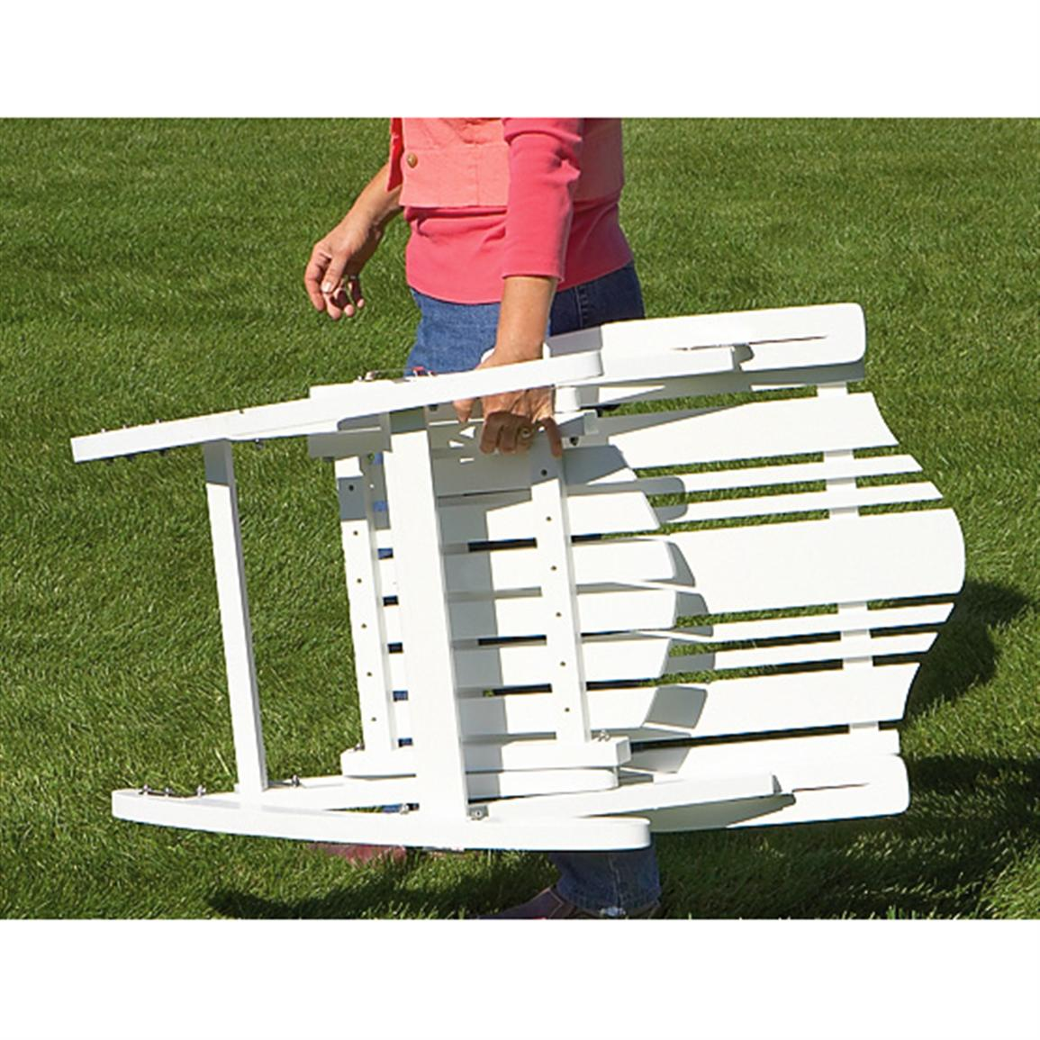 Folding Solid wood Outdoor Rocking Chair Patio Furniture at Sport