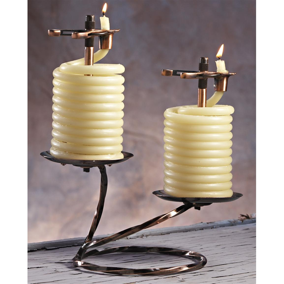 Two 36-hour Candle-by-the-Hour Beeswax Candles