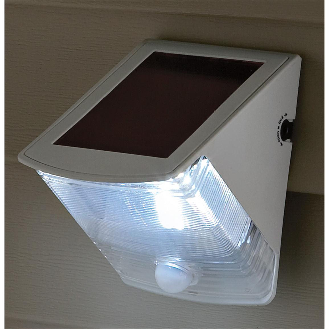 Motion Activated Solar Wedge Light