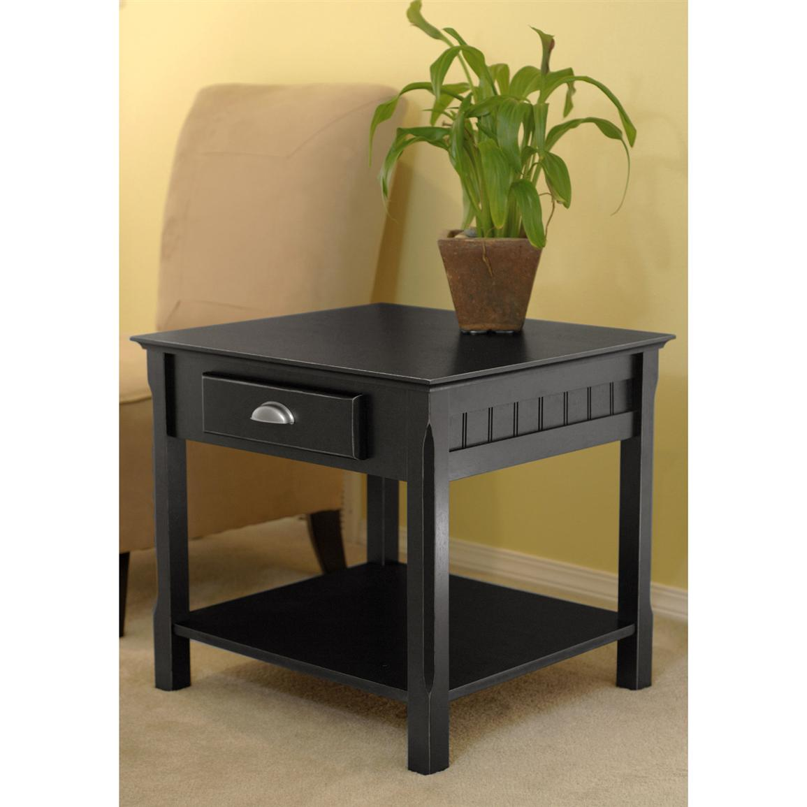 Winsome Black Oak Park End Table