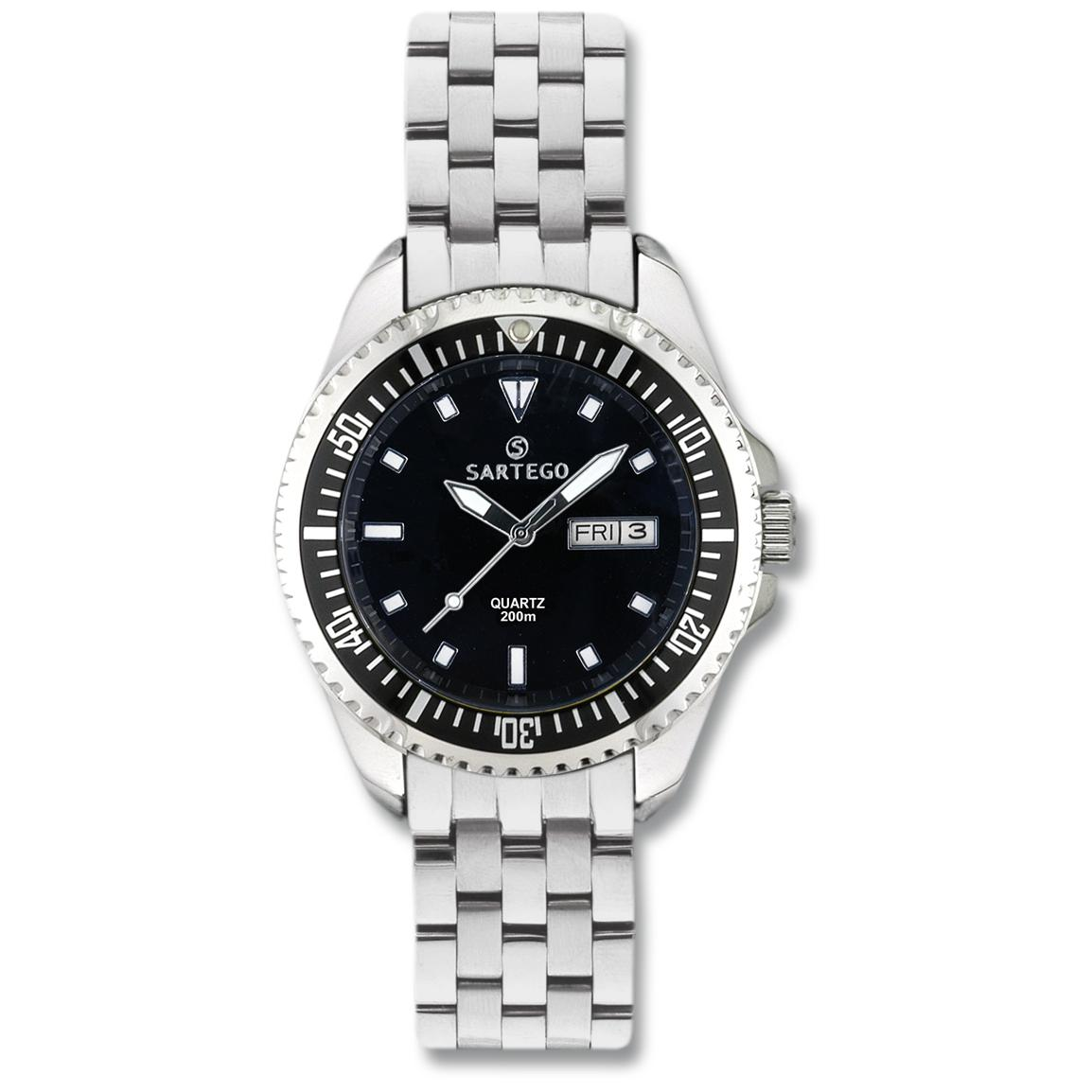 Men's Sartego® Ocean Master Watch, Black Dial