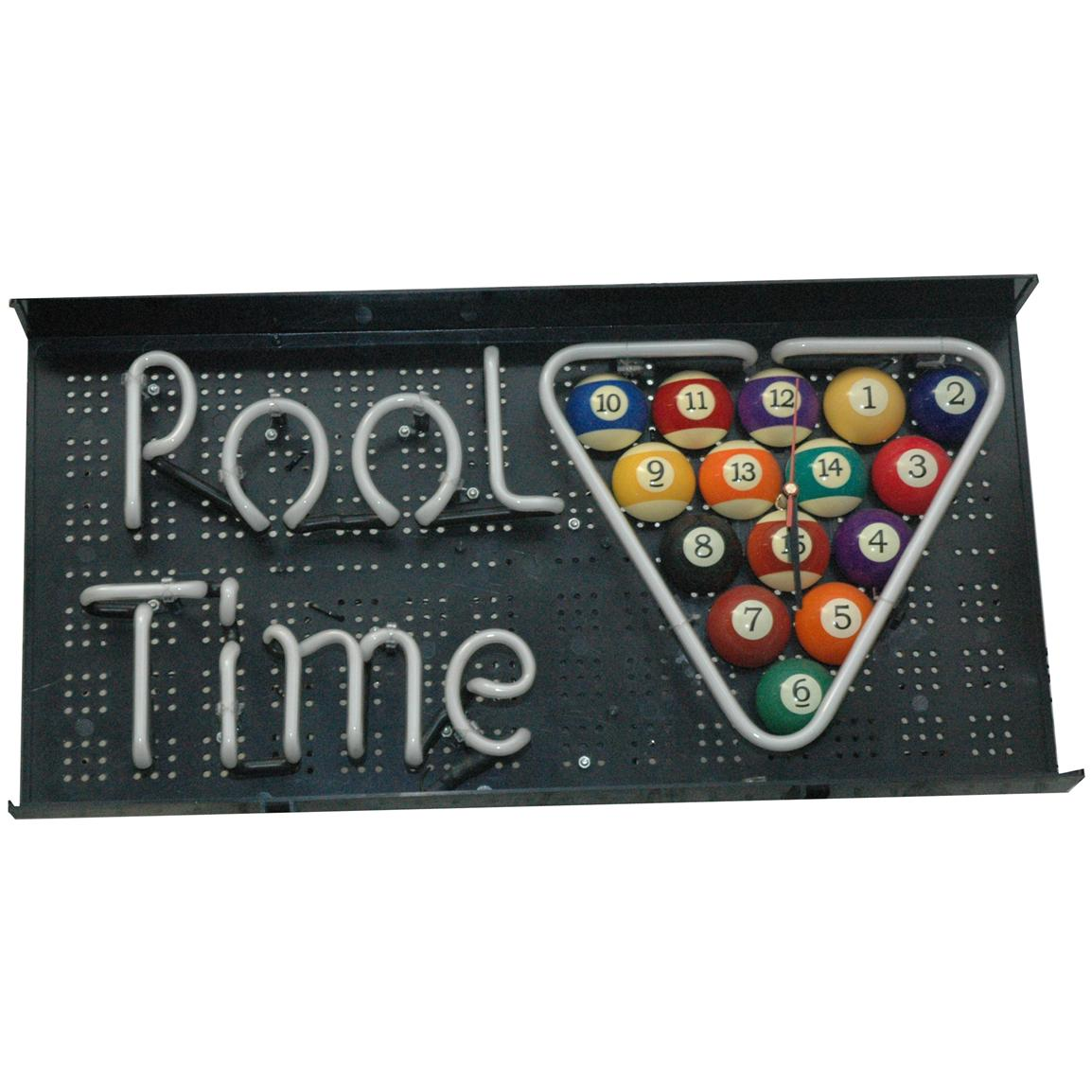 CHH Quality Products, Inc. Pool Time Neon Clock