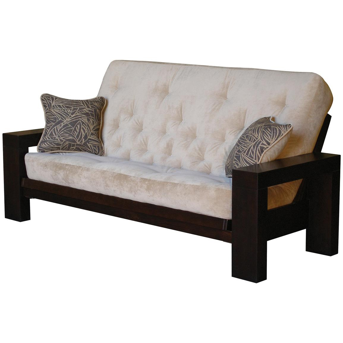 soho espresso full futon with tdc mattress 151916 living room soho luxe upholstered arm chair