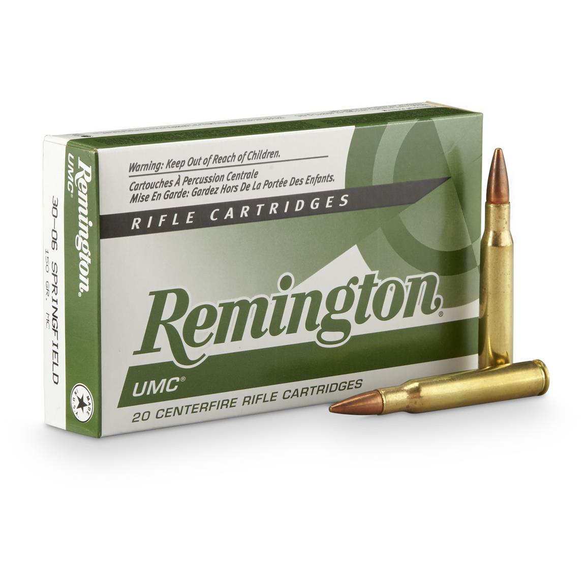 Remington UMC, .30-06 Springfield, MC, 150 Grain, 20 Rounds