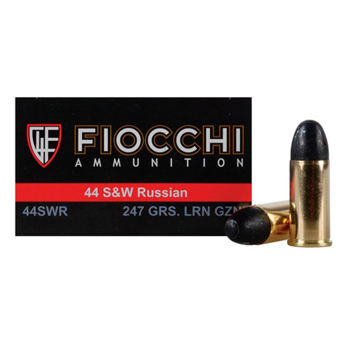Fiocchi Specialty, .44 S&W Russian, LRN, 247 Grain, 50 Rounds