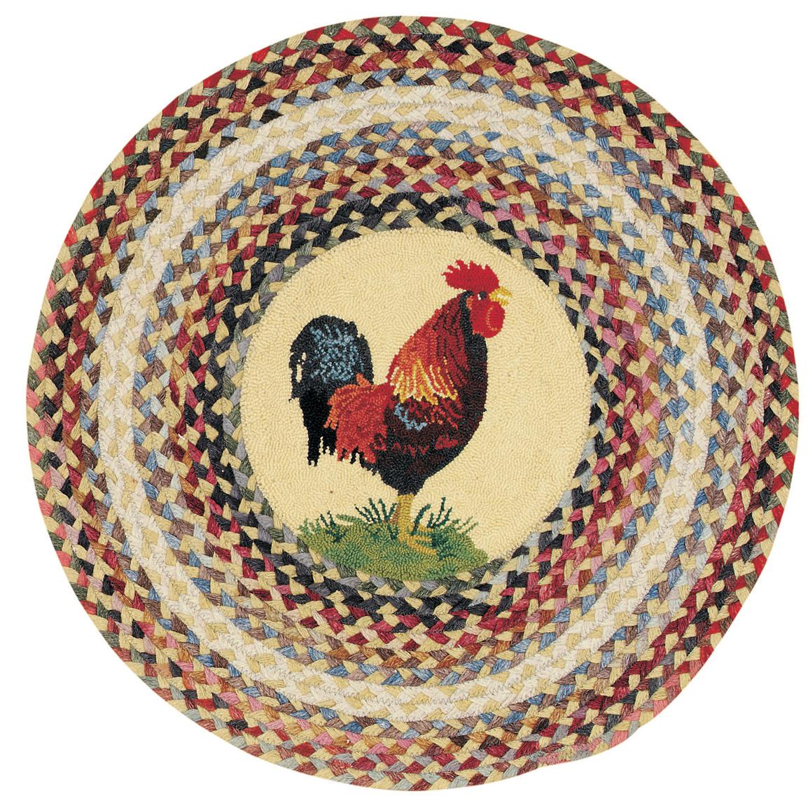 Capel Somewhere In Time Round Ella's Rooster Rug