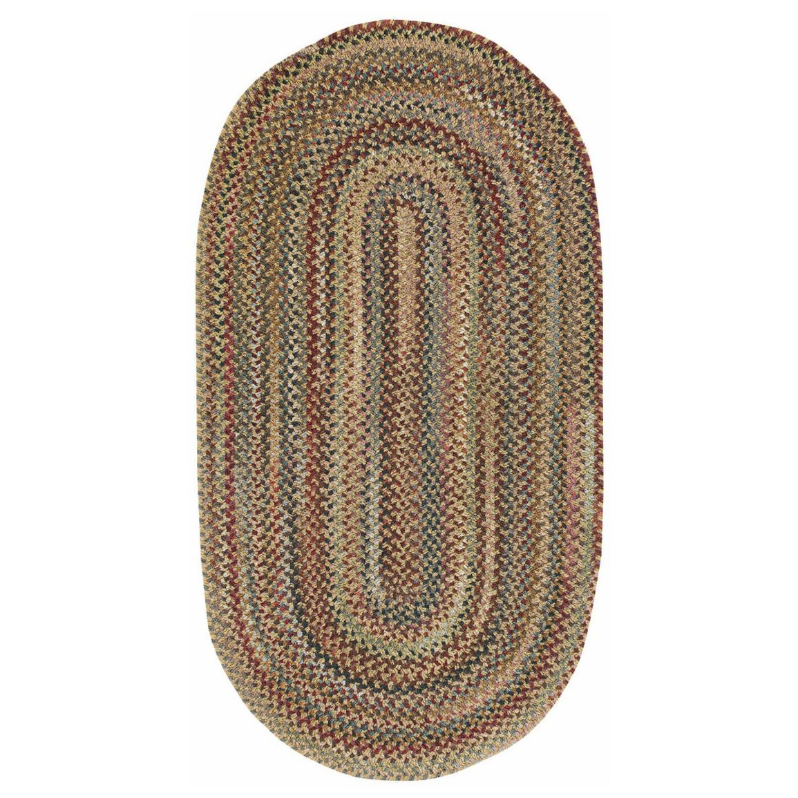 Capel Honey Autumn Valley Round Rug