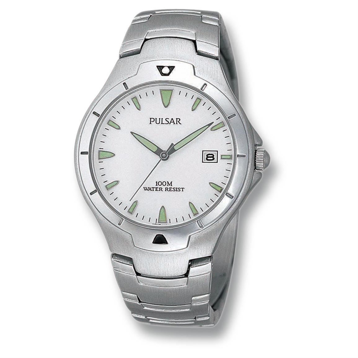 Men's Pulsar® Sport Watch, Silver / White Dial