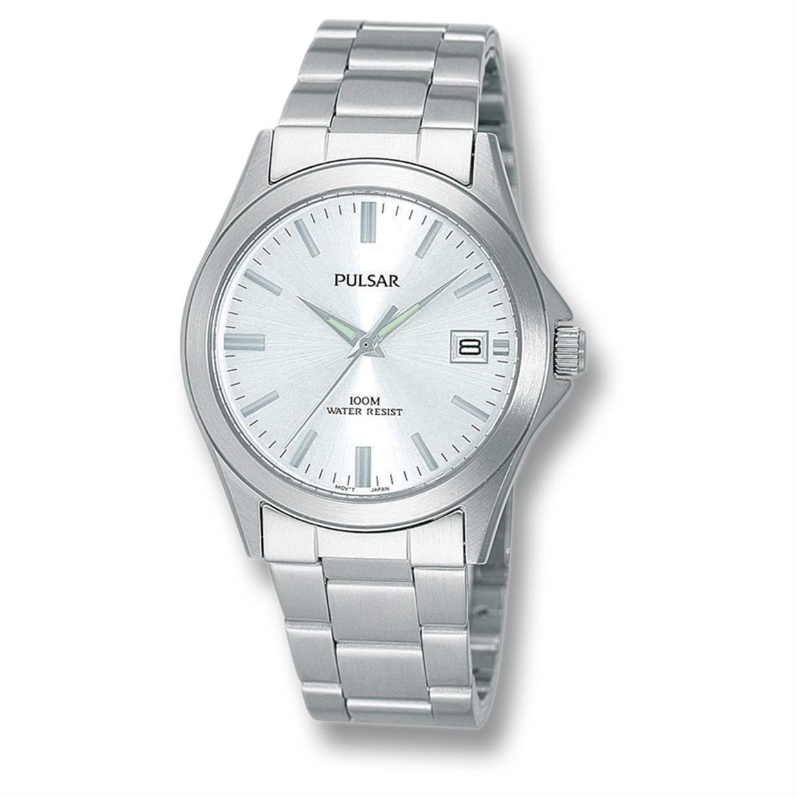 Men's Pulsar® Link Bracelet Silvertone Watch