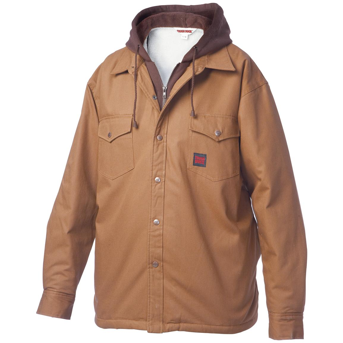 Tough Duck Shirt with Hood, Brown