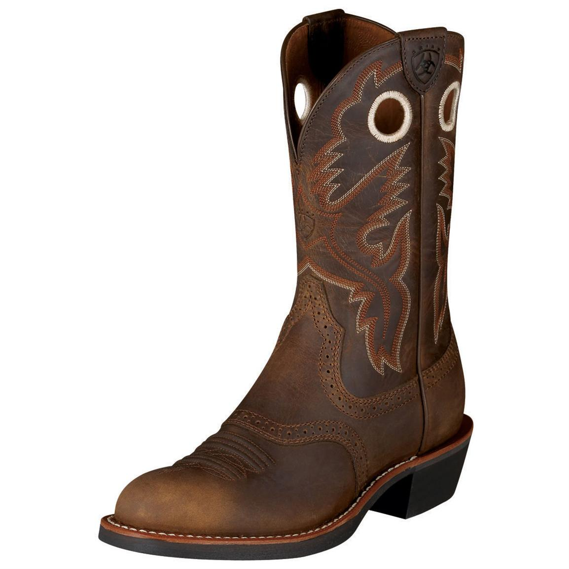 "Women's Ariat 11"" Heritage Roughstock Boots, Antique Brown"