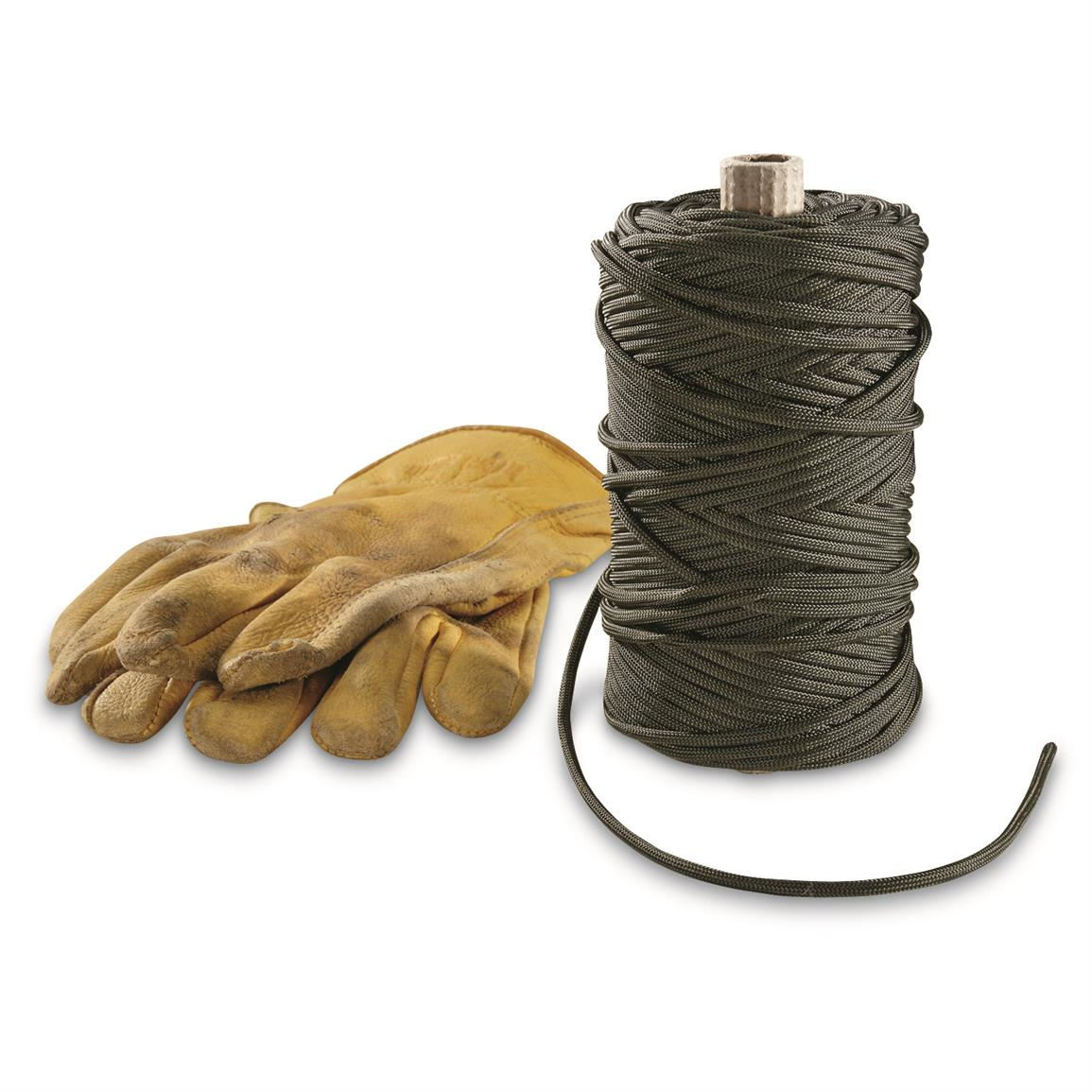 Military Style 550-lb. Tensile Paracord, 100 Yards, Olive Drab