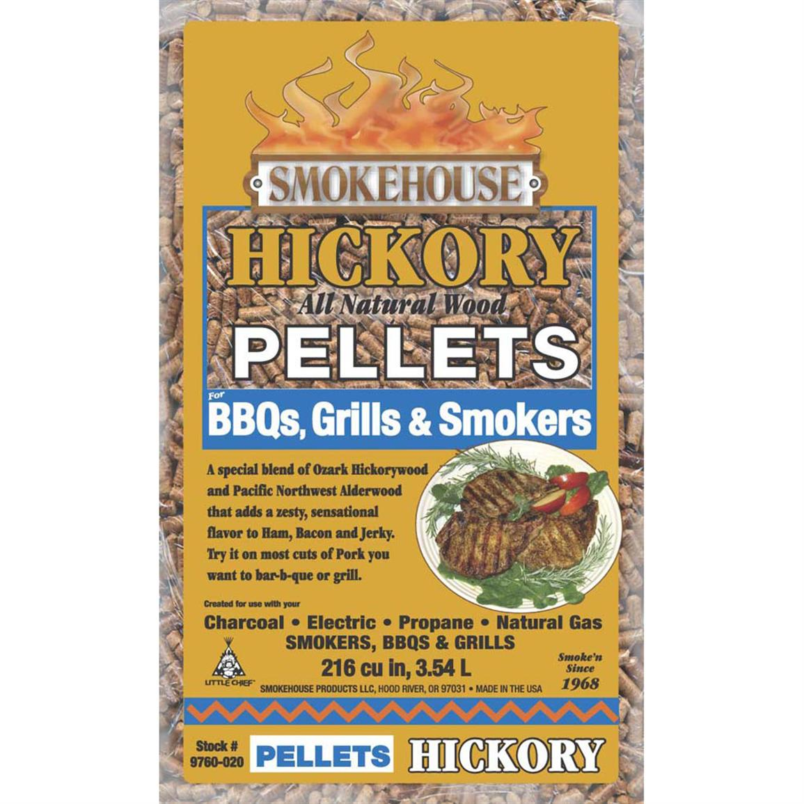 Smokehouse® Wood Pellets, 6-Pk., Hickory