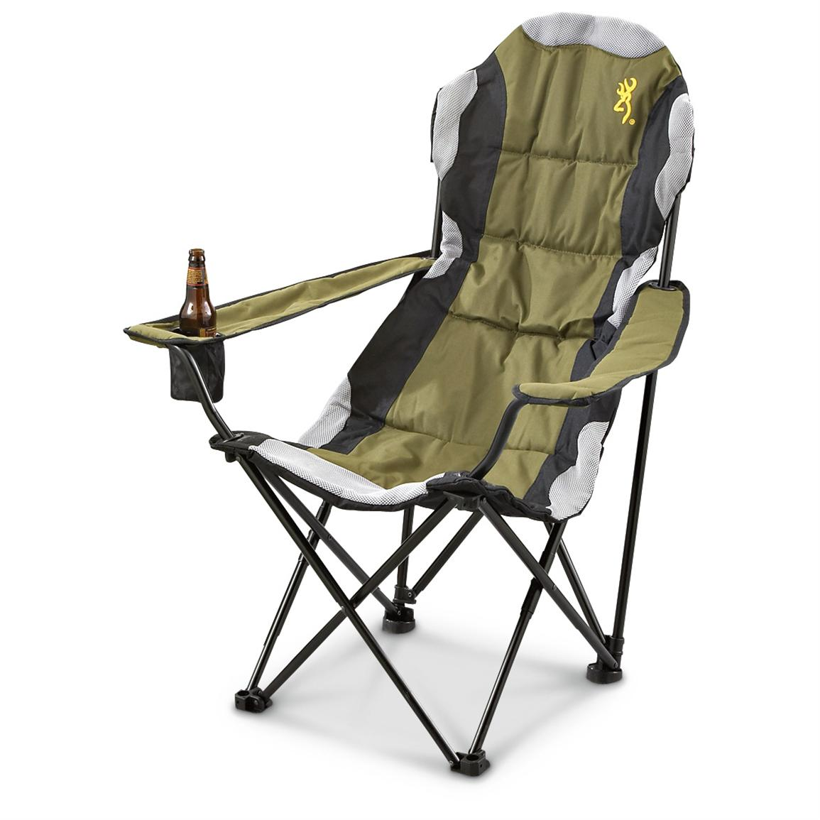 Browning® Padded Chair, Olive / Black / White