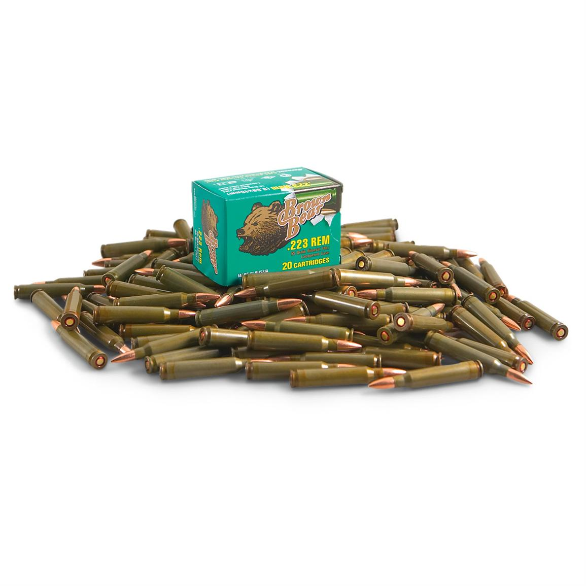 Brown Bear, .223 Rem, FMJBT, 55 Grain, 260 Rounds