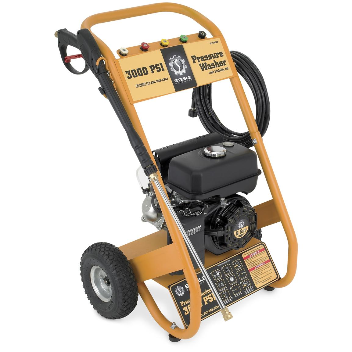 Steel® Products 6.5 HP 3,000 PSI Gas-powered Pressure Washer