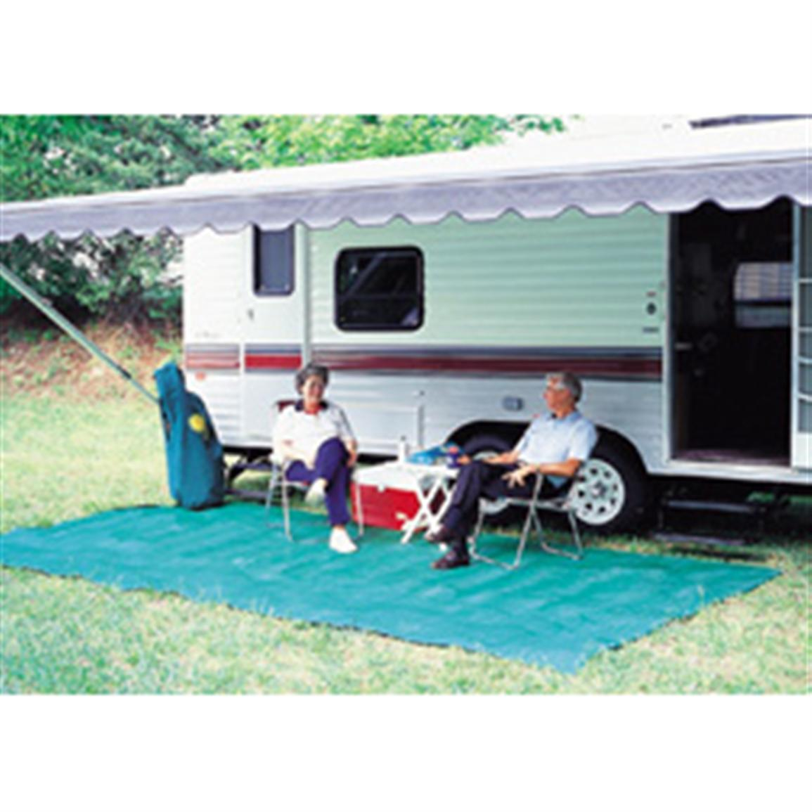Camco Reversible Awning Leisure Mat, 7x15'
