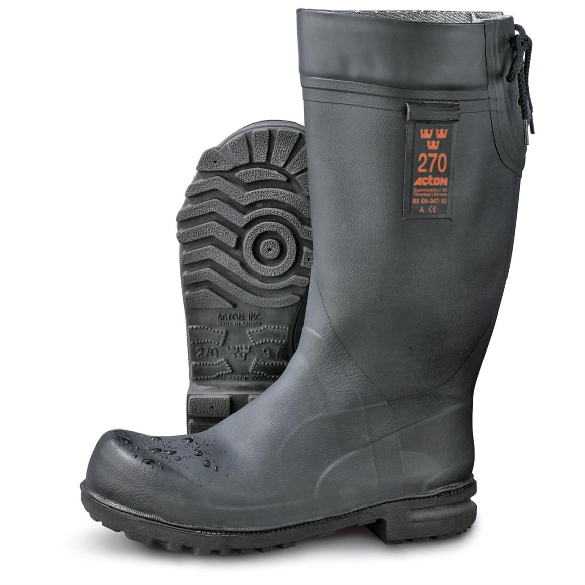 Men's New Swedish Military Rubber Boots, Black - 157736, Winter ...