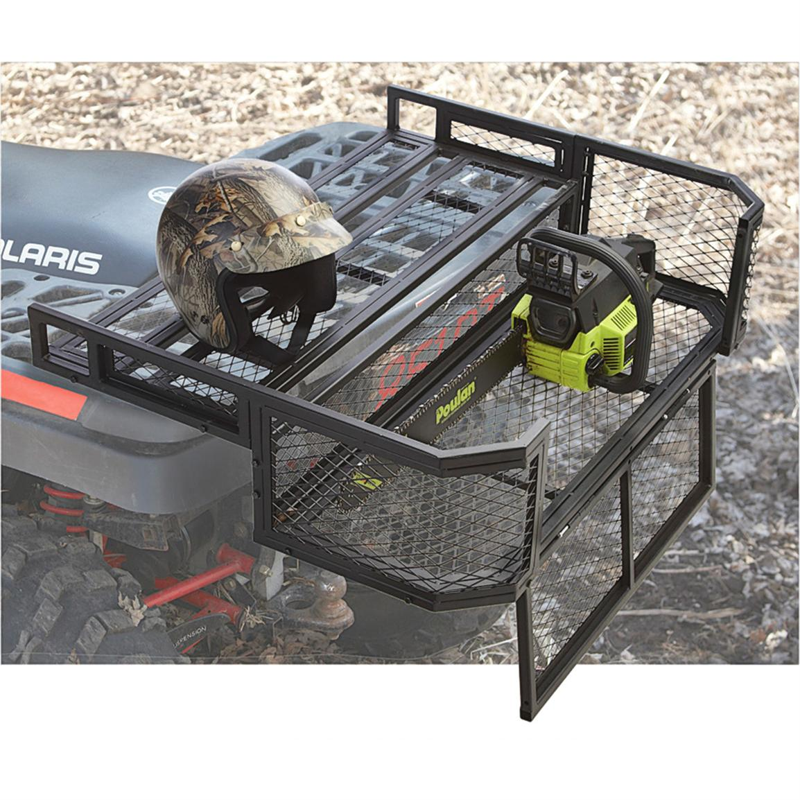 Guide Gear ATV Rear Drop Basket; Gate drops down for easy loading and unloading