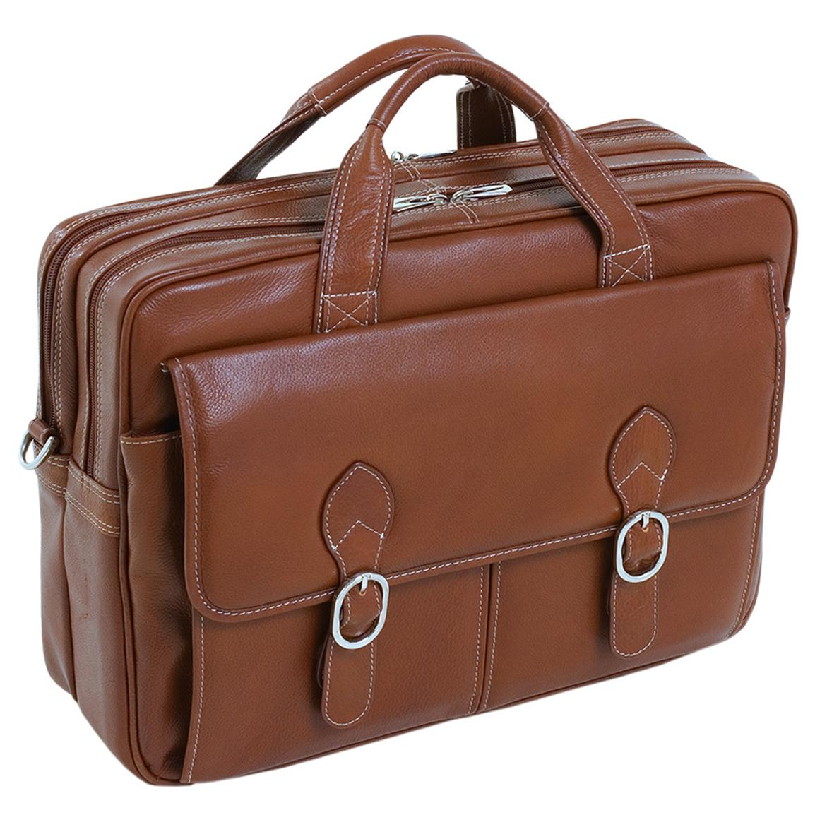 McKlein USA Kenwood Leather Double Compartment Laptop Case