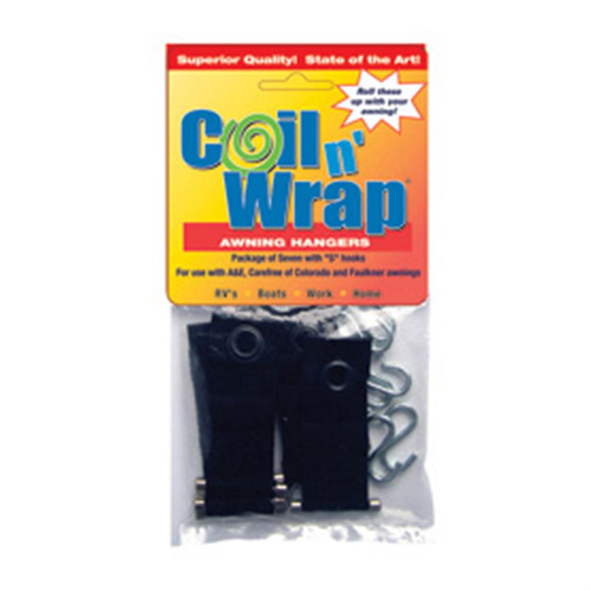 Coil 'n' Wrap Patio Awning Hangers with 'S' Hooks, 7-Pk.