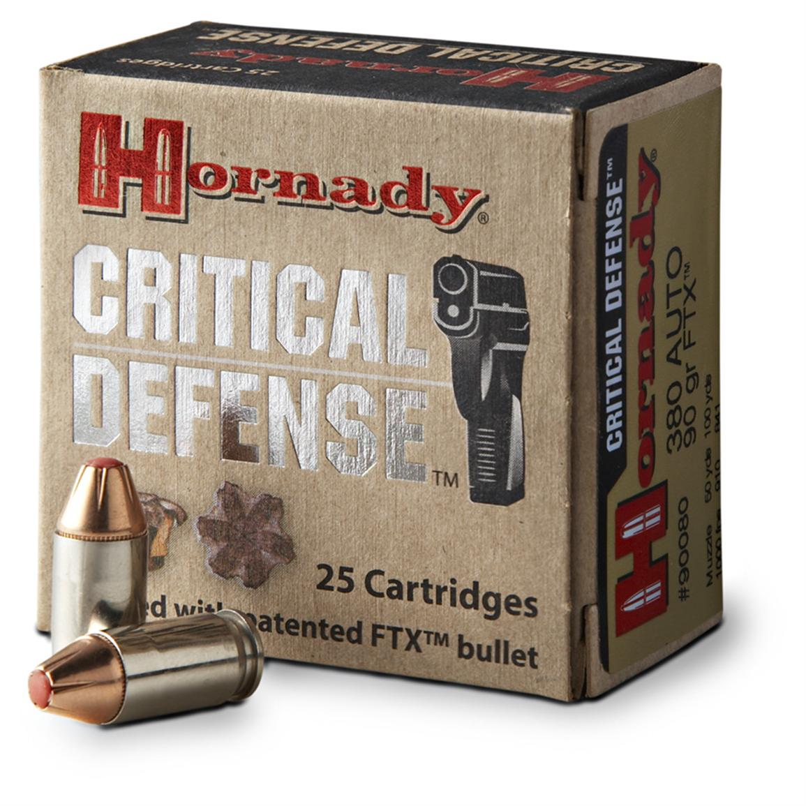 Hornady Critical Defense .40 S&W 165 Grain FTX Ammo, 20 rounds