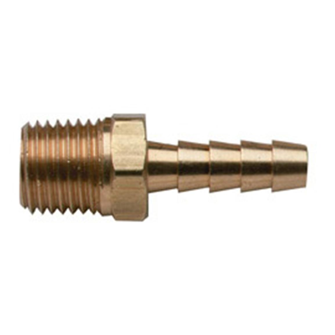 "Moeller® 1/8"" NPT x 1/4"" Hose Barbs with Male Threads"