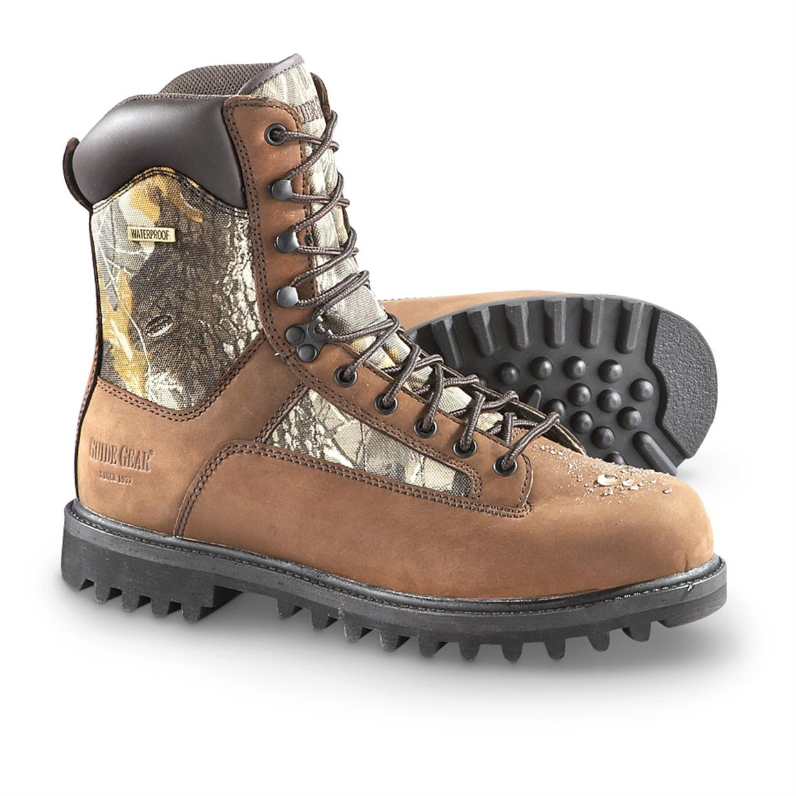 Guide Gear Men's 400g Sport Boots, Insulated, Waterproof, Realtree Hardwoods Grey®