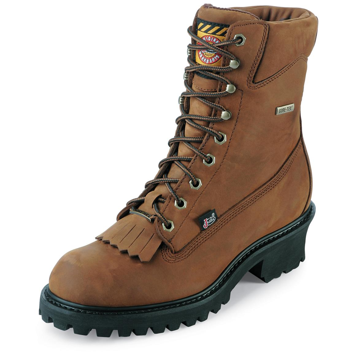 "Men's Justin® 8"" GORE-TEX® Logger Work Boots"