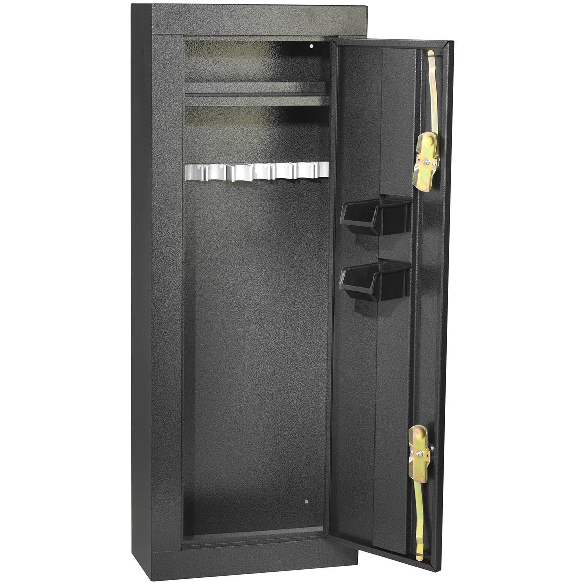 Gun Security Cabinet >> Homak 8 Gun Security Cabinet 163668 Gun Cabinets Racks At