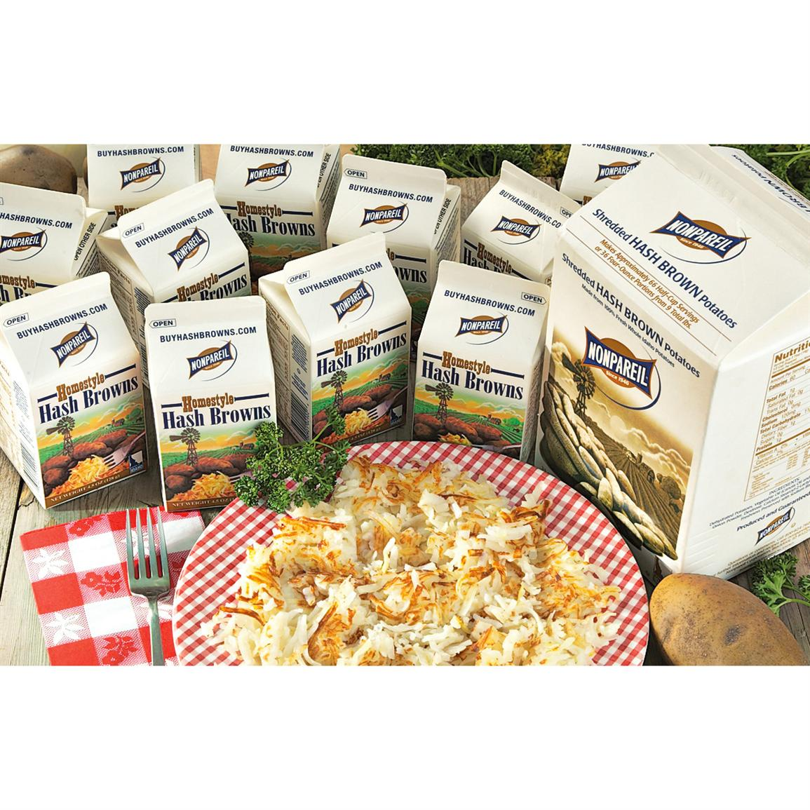Cartons Nonpareil® Homestyle Hashbrowns