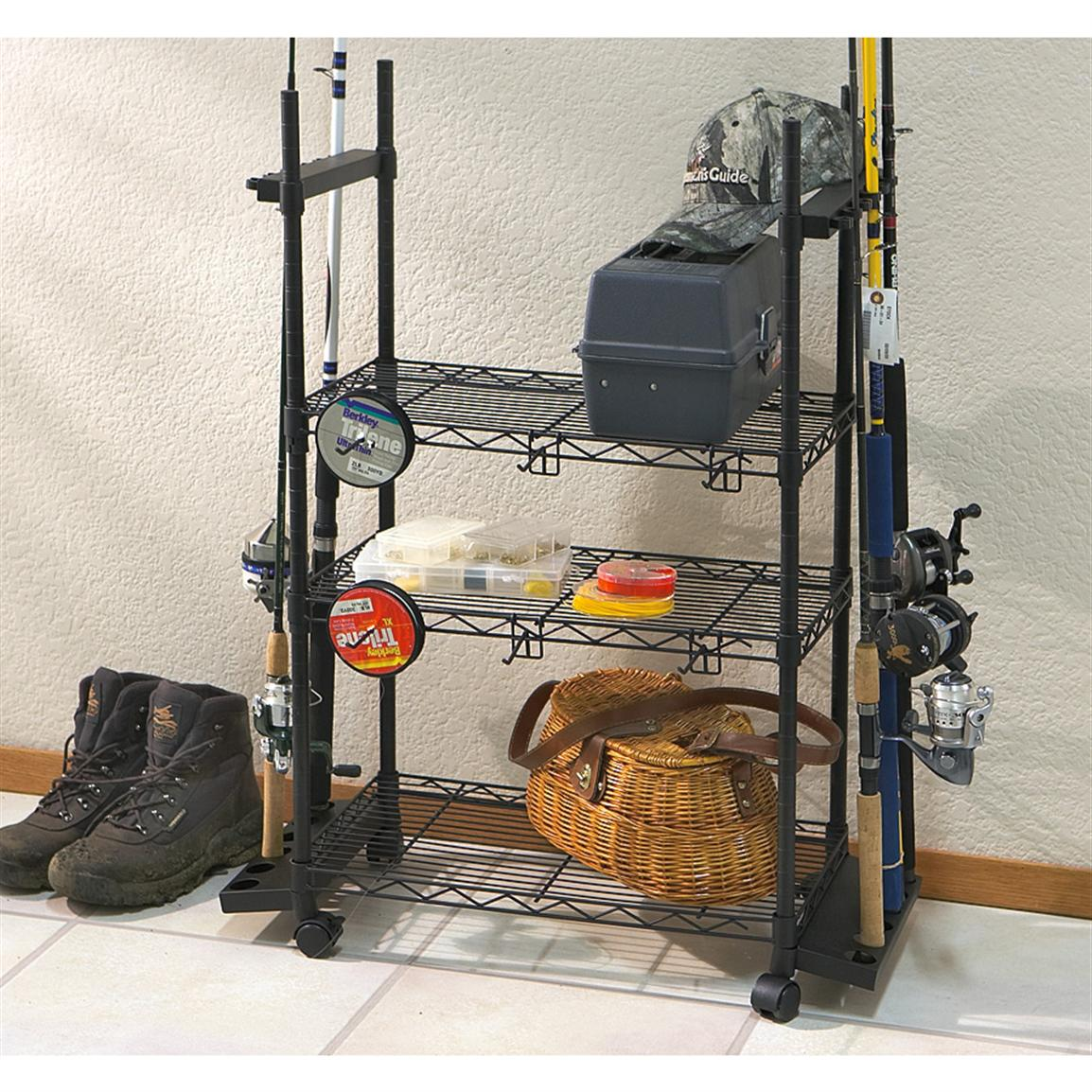 12-rod Tackle Trolley