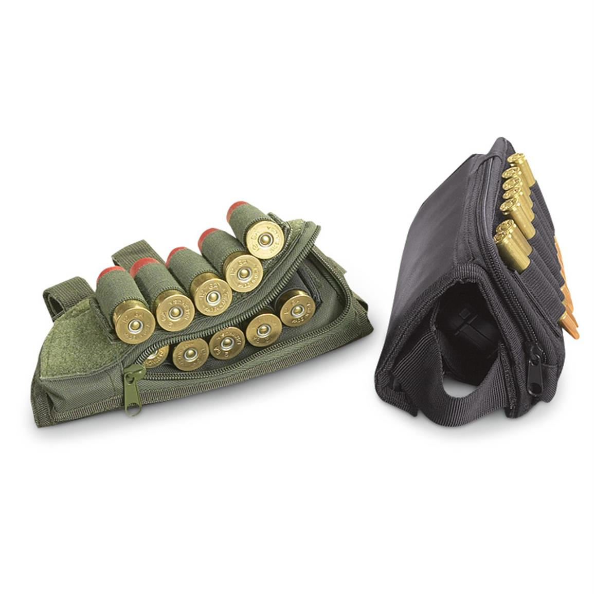 Fox Tactical Butt Stock Cheek Rest, Olive Drab or Black