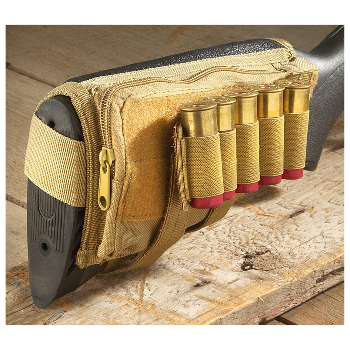Fox Tactical Butt Stock Cheek Rest, Coyote Tan