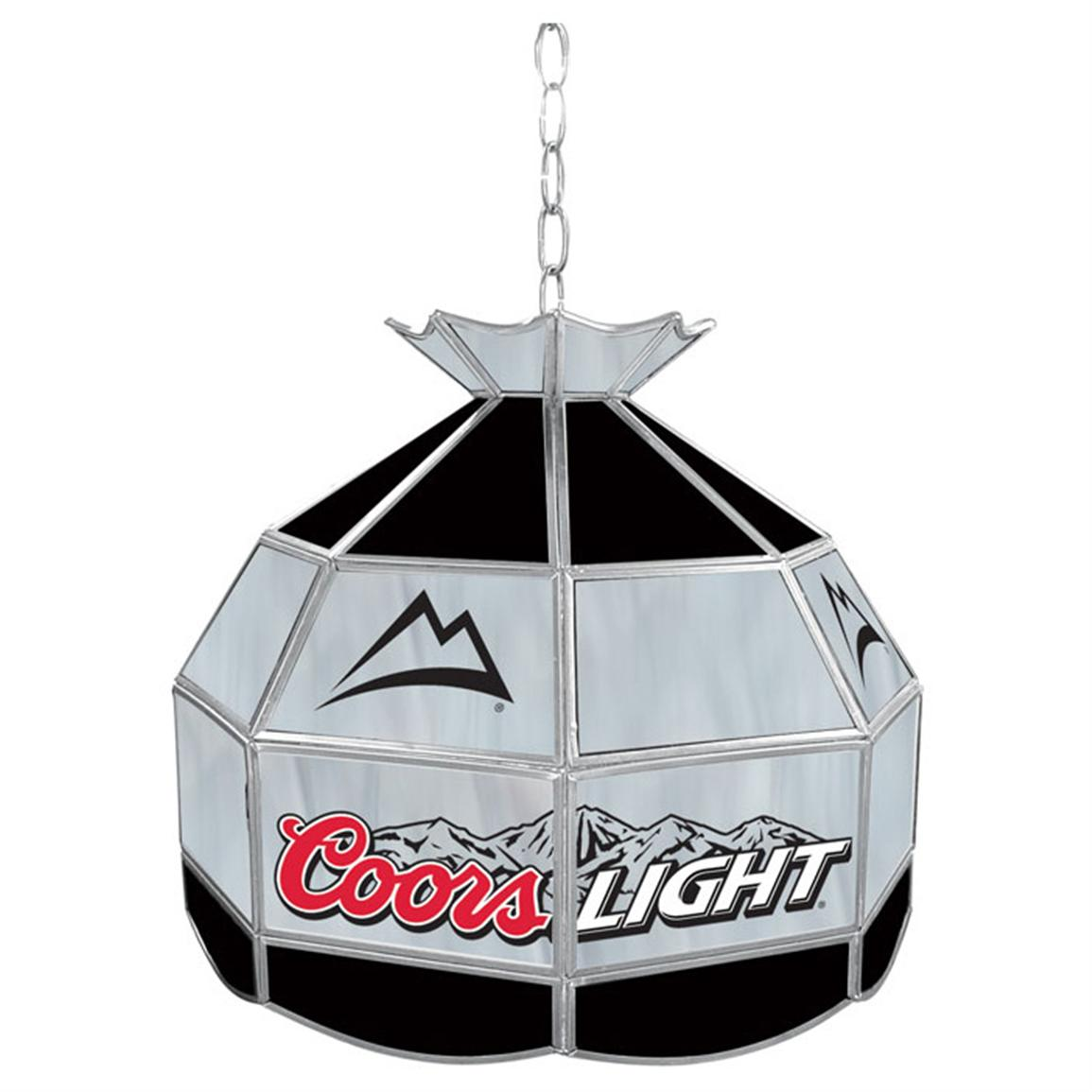 "16"" Trademark® Coors Light® Tiffany-style Lamp Fixture"