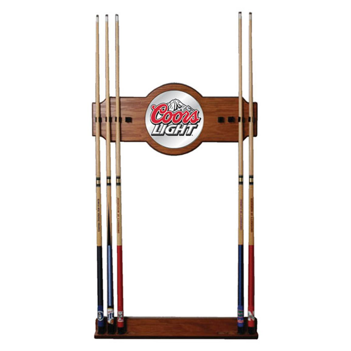 "60"" Trademark® Coors Light® Mirrored Cue Stick Rack"
