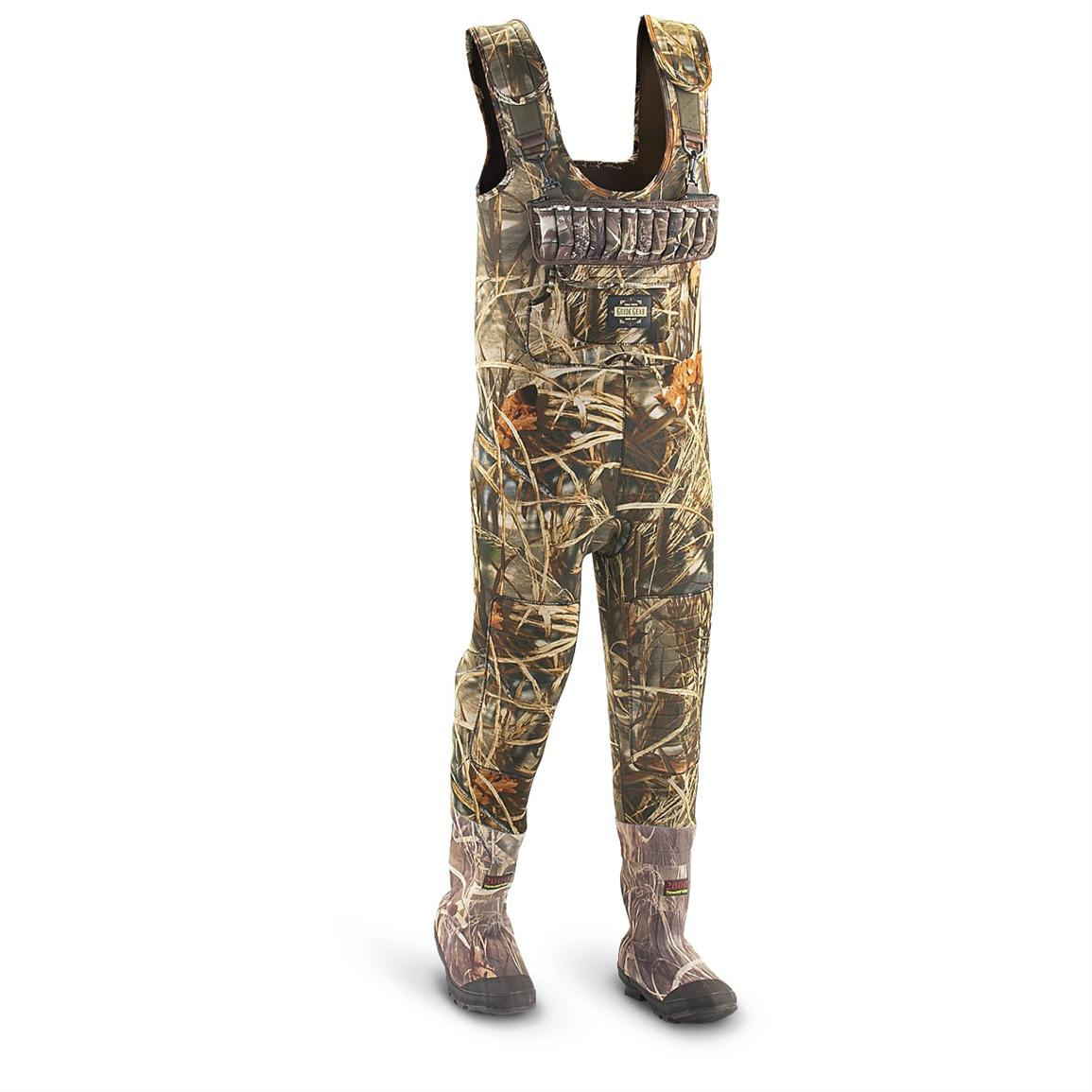 Men's Guide Gear® 2,000 gram Thinsulate™ Ultra Insulation 5 mm Chest Waders, Advantage® Max-4®