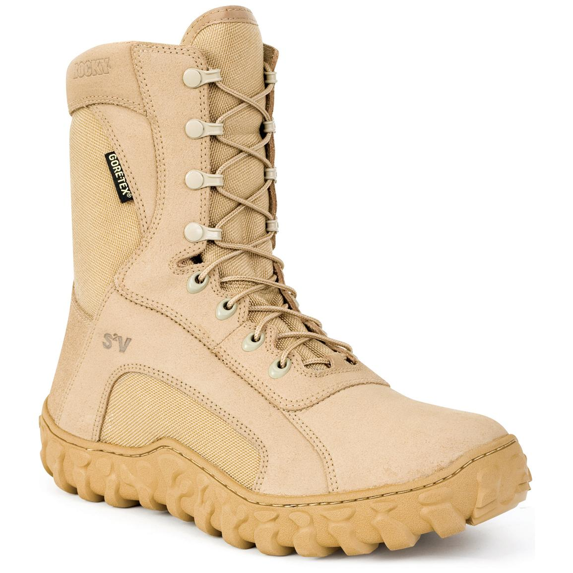 "Men's 8"" Rocky® S2V Vented Military Duty Boots"
