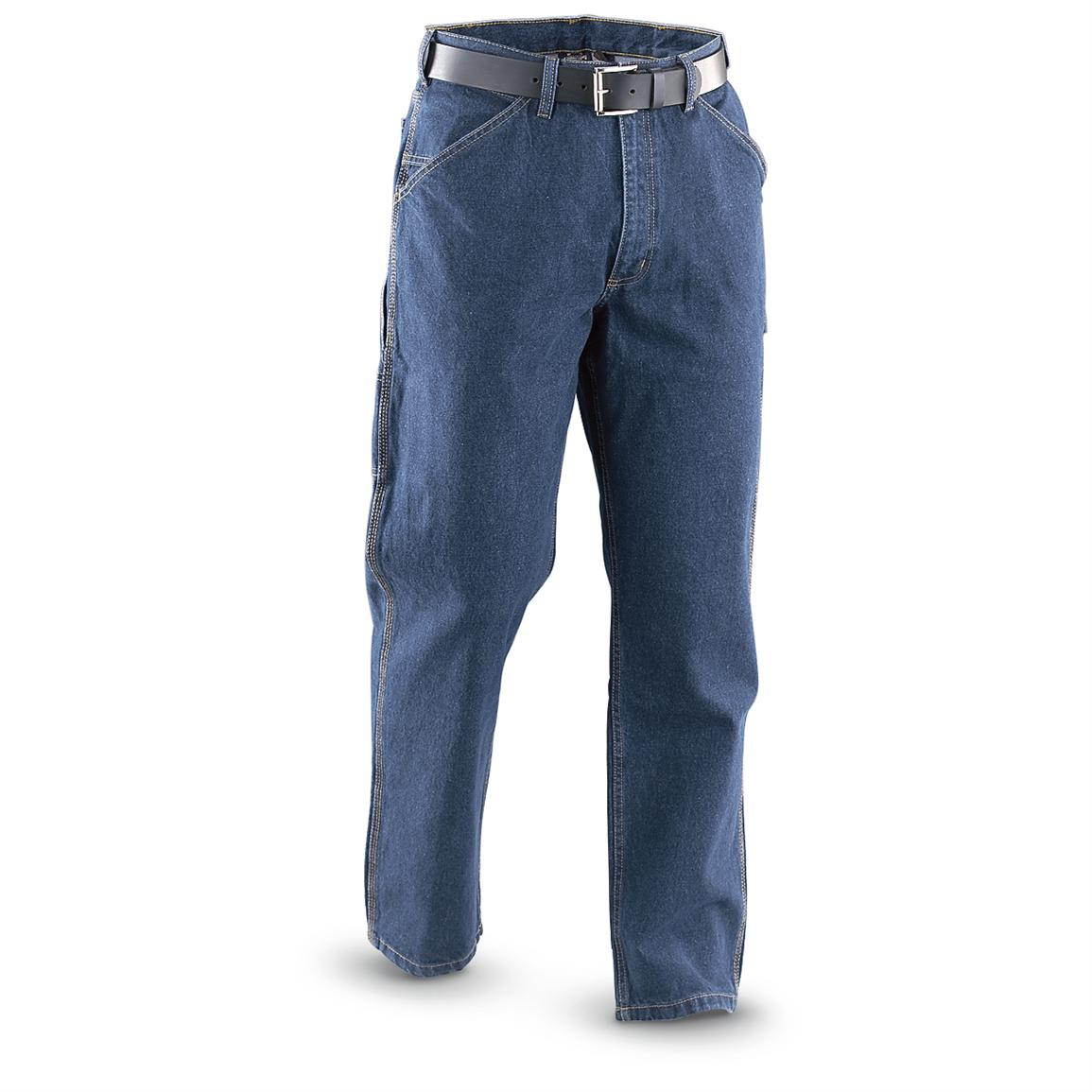Guide Gear® 8-pocket Carpenter Jeans, Stonewash; 8 pockets and a hammer loop