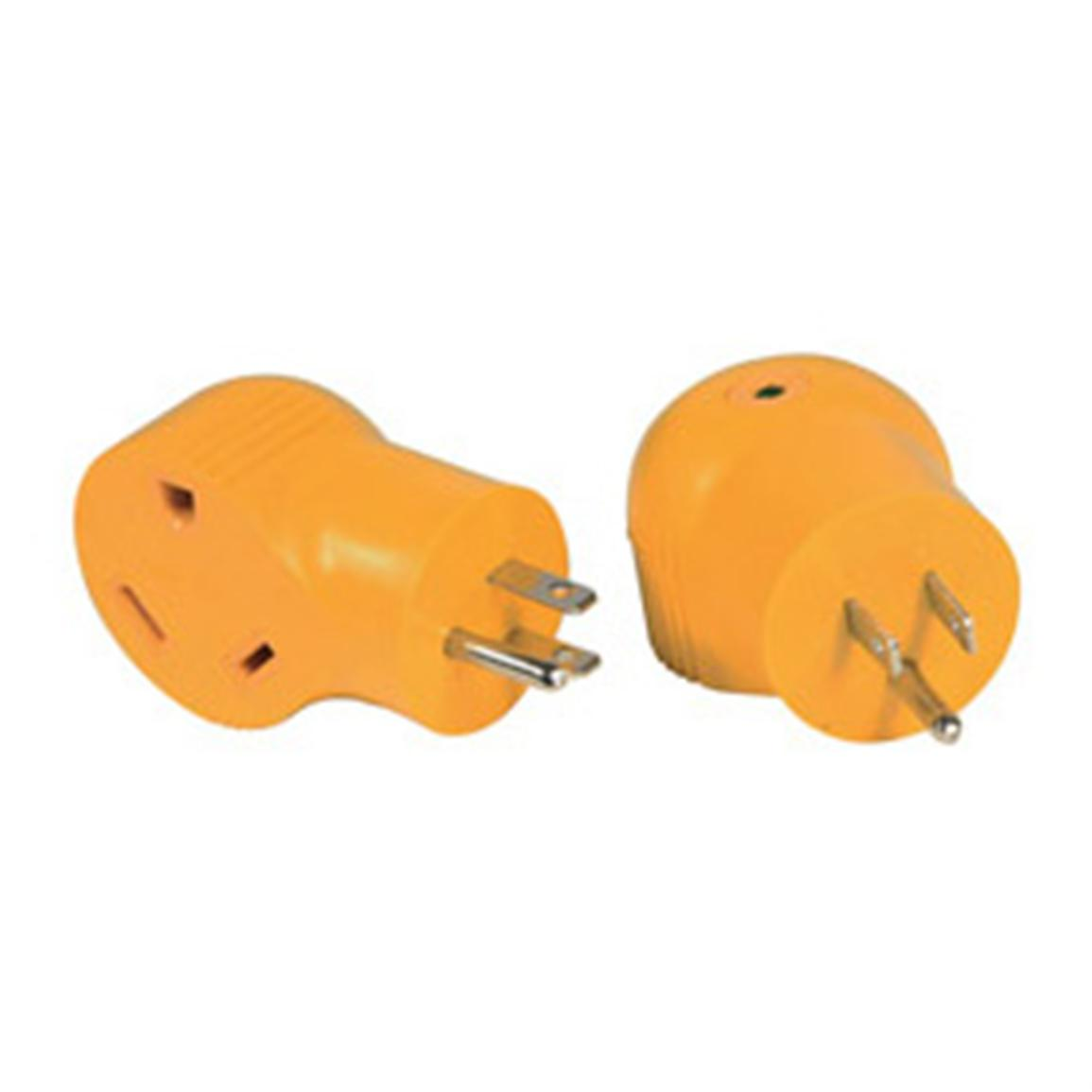 Camco®  90° 15-amp-Male-to-30-amp-Female Electrical Adapter
