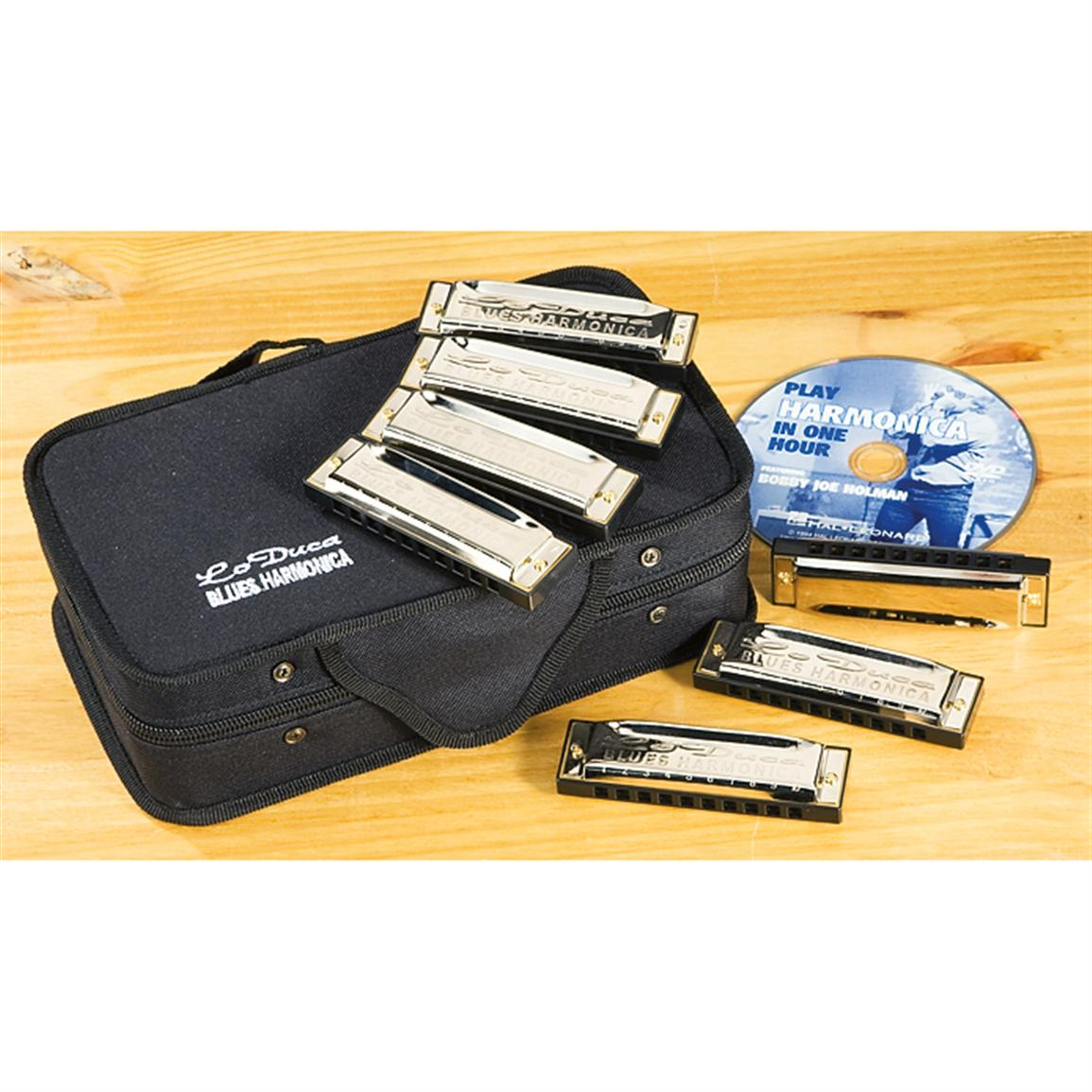LoDuca® 7-Pc. Harmonica Set with DVD