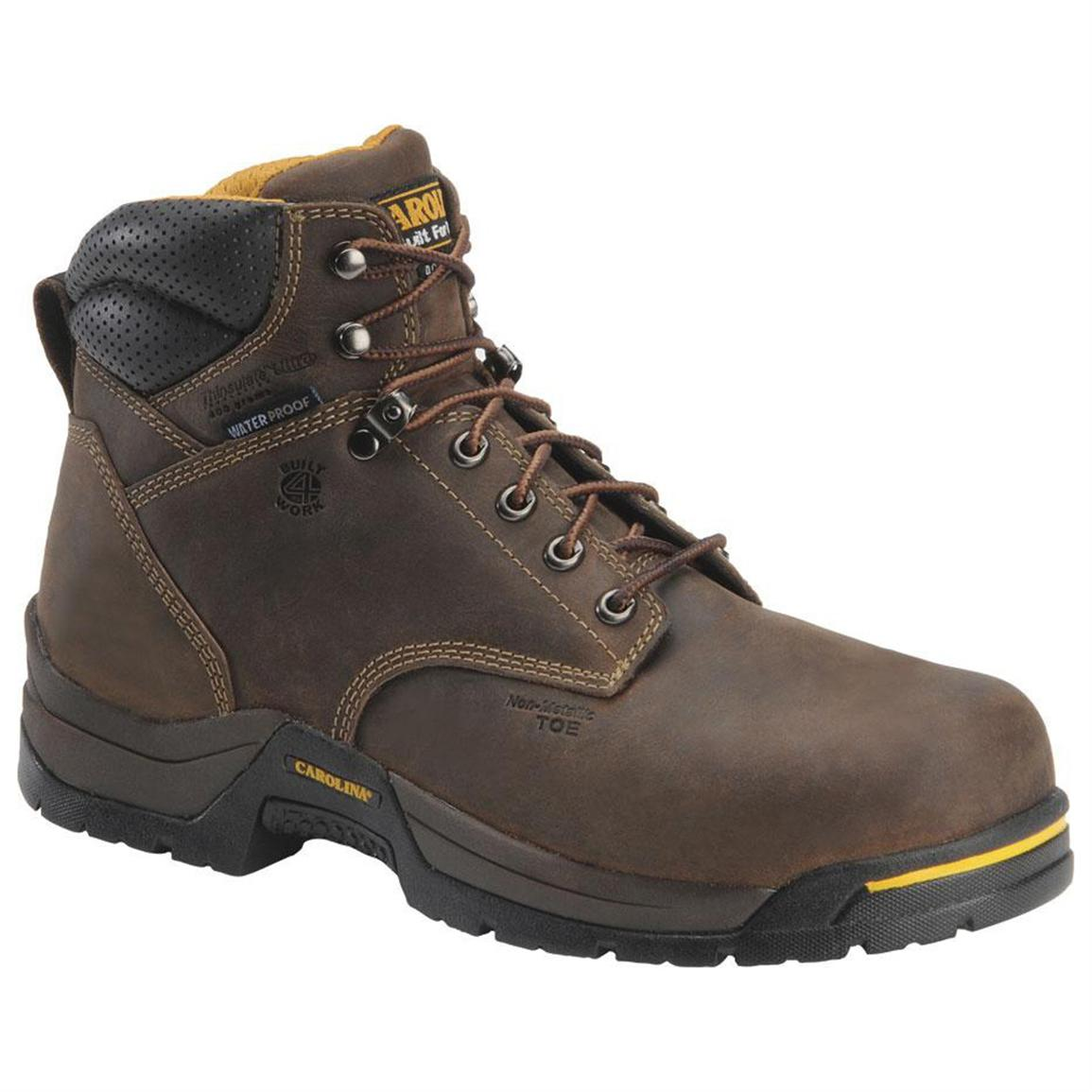 "Men's Carolina® 6"" Waterproof 400-gram Thinsulate™ Ultra Insulation Broad Composite Toe Boots"