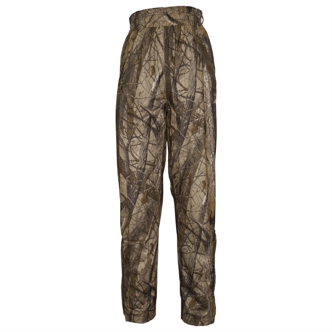 Women's Pella® Camouflage Packable Rain Pants, Hardwoods Green