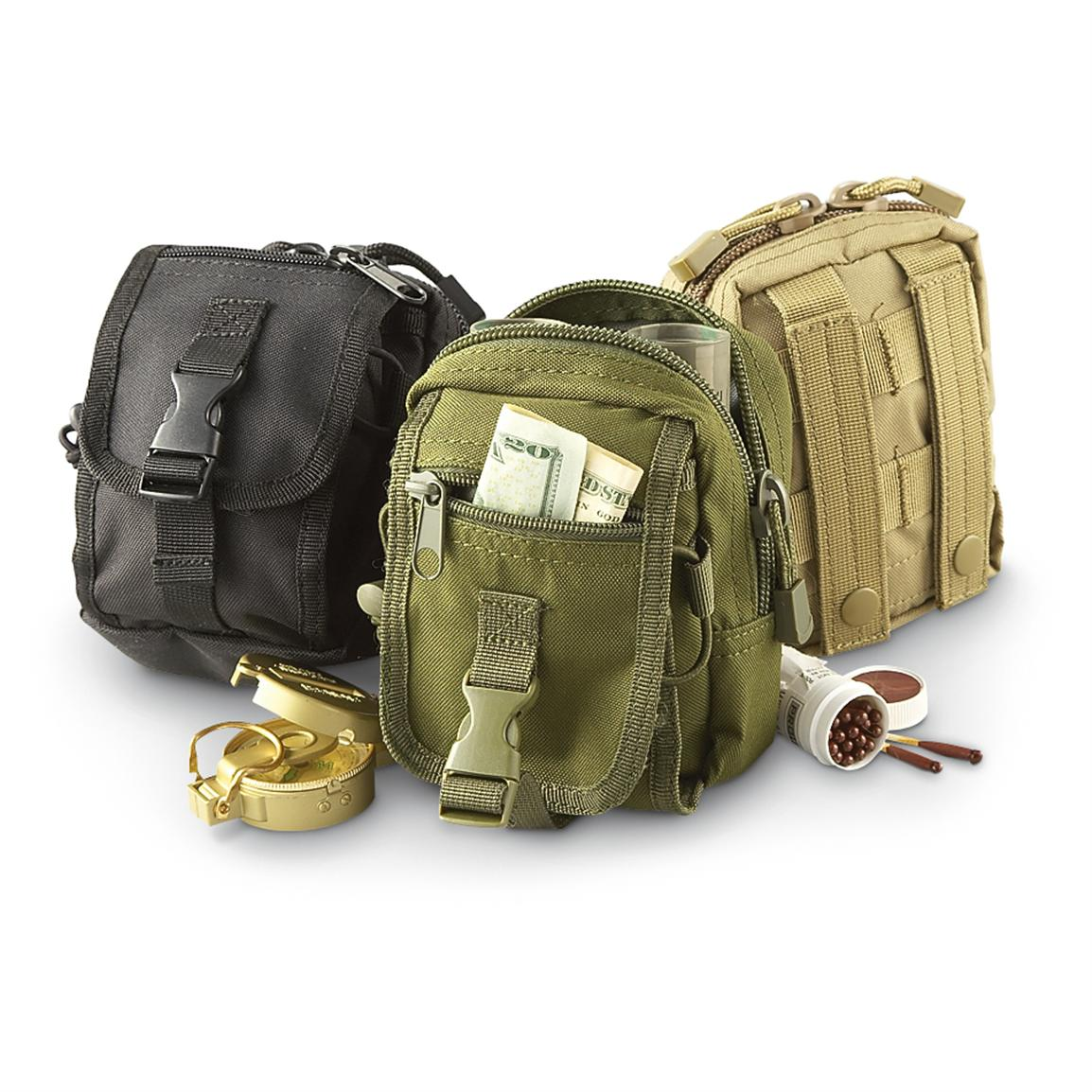 Multi-purpose Accessory Pouch • From left to right: Black, Olive Drab, Coyote Tan • 54-cu. in. capacity
