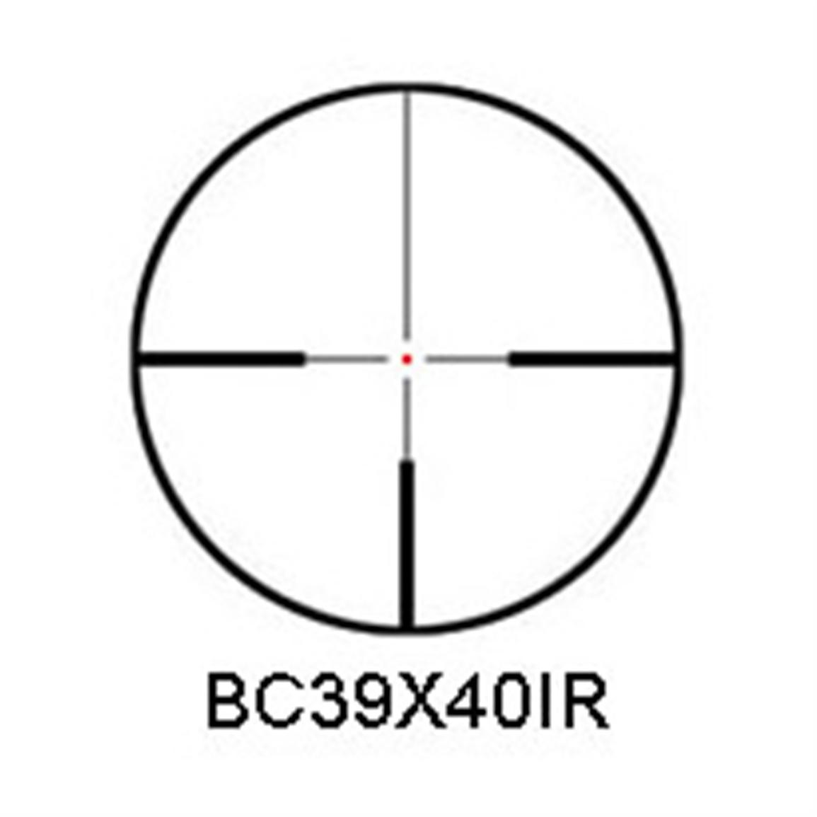 Illuminated etched glass reticle with 1MOA center dot for a bright shot